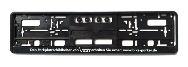Montage-Rahmen zur leichten Montage von Kennzeichen an Parkplatzschildhalter Wupper oder Wipper.