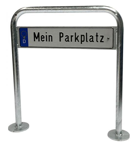 """Parkplatzschild-Halter Wipper zum Aufdübeln mit Nummernschild """"Mein Parkplatz"""""""