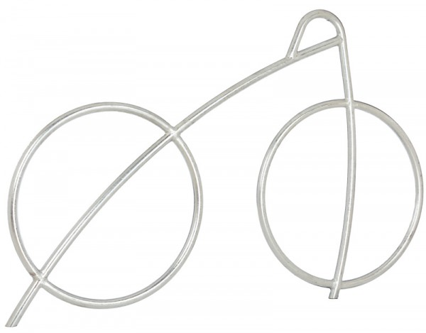 """Fahrradanlehnbügel """"Dynabike®"""" im Design eines Fahrrades"""