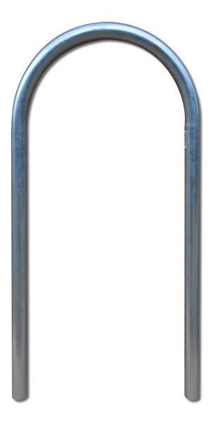 Fahrradanlehnbügel Isar 1, halbrund U-förmig gebogen aus feuerverzinktem Stahlrohr
