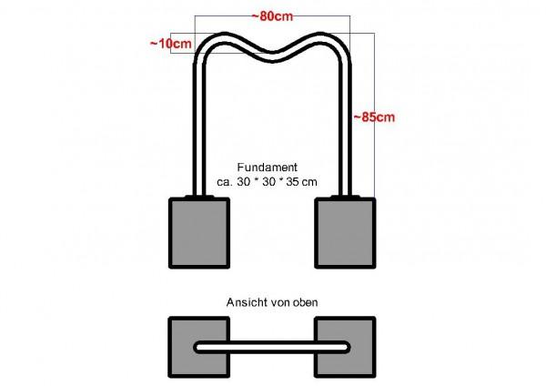 Fahrradanlehnbügel / Fahrradständer Mosel 1