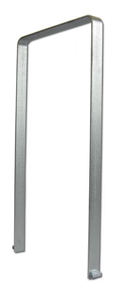 Anlehnbügel Ems aus Flachstahl in der Variante zum Einbetonieren mit Aushebesicherung