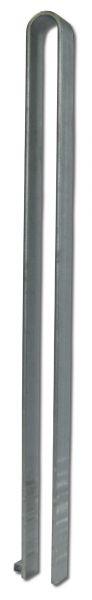 Anfahrschutzbügel Aller aus feuerverzinktem Flachstahl 60x10mm zum Einbetonieren mit Aushebesicherung